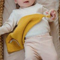Mustard Yellow Baby Comforter And Teether