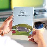 Personalised Motorhome Travel Journal Notebook