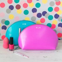 Personalised Make Up Bag, Turquoise/Apple Green/Green