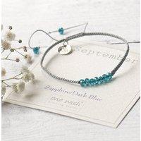 September Birthstone Bracelet Hand Woven With Silk