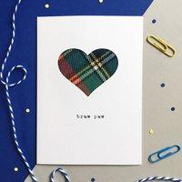 'Braw Paw' Scottish Fathers Day Card