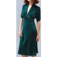 1940s Style Dress In Peacock Silk Velvet