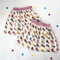 Handmade Superhero Skirt Twin Set