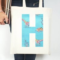 Personalised Fantasy Initial Tote Bag
