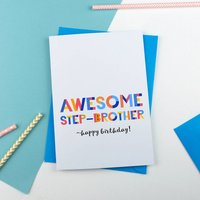 Awesome Step Brother All Purpose Personalised Card