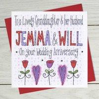 Personalised Granddaughter Or Grandson Anniversary Card