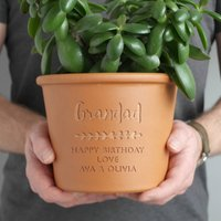 Personalised Herb Pot