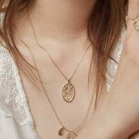 Iris Goddess Coin Necklace