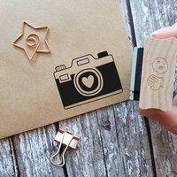 Retro Camera Rubber Stamp