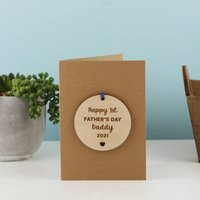 First Father's Day Personalised Decoration Card