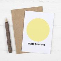 Hello Sunshine New Baby Card