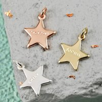 Personalised Hand Stamped Star Bracelet Charm