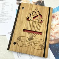 Personalised Wooden Baking Notes Notebook