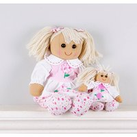 Set Of Two Mother And Daughter Daisy Rag Dolls