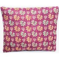 Upcycled Purple Floral Sari Vintage Kantha Clutch Bag