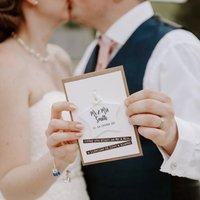 Wedding Card With Ceramic Star Keepsake