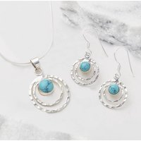 Infinity Universe Turquoise Necklace And Earring Set