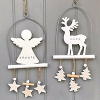 Personalised Christmas Wooden Decoration