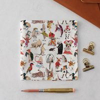 Alice In Wonderland Literary Handkerchief Pocket Square