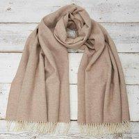 Beige Nude Blanket Scarf/ Giant Wrap/ Pashmina