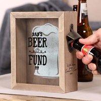 Personalised Dads Beer Fund Money Box