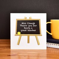 Personalised Teacher Thank You Card