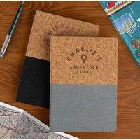 Personalised Vegan Cork Travel Journal For Him