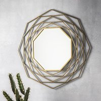 Gold Octagonal Wall Mirror