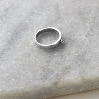 Sterling Silver Small Bead Athena Ring, Silver