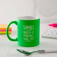 Personalised 21st Birthday Mug For Men
