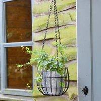 Contemporary Autumn Garden Hanging Basket Planter