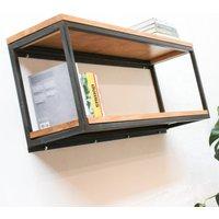 Orla Welded Steel Box Section And Premium Oak Shelves