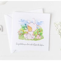 New Baby Card For Rainbow Baby, Christening Card .4v15a
