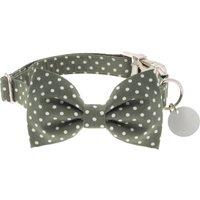 Fennel Green Polka Dot Bow Tie Dog Collar