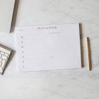 Plan The Week Desk Planner