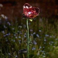 Red Rose Solar Light