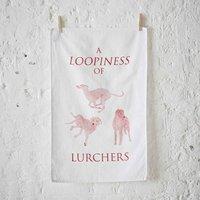 Lurcher Tea Towel
