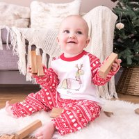 Personalised Christmas Dinosaur Childrens Pyjamas
