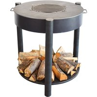 Firebowl BBQ And Wood Storage Three In One