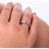 Satin Silver Birthstone Ring, Silver