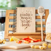 Personalised Recipe Book And Magic Spoon Gift Set