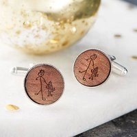 Engraved Drawing Personalised Cufflinks