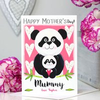 Personalised Panda Mother's Day Card