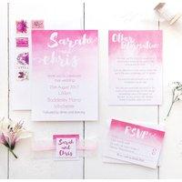Ombre Watercolour Wedding Invitation Set