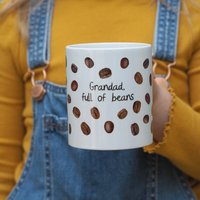 Coffee Beans Personalised Mug Father's Day Gift