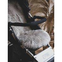 Baa Baby Buggy Style Sheepskin Pram Liner Grey Long