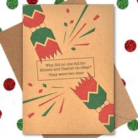 Funny Christmas Card: Two Deer