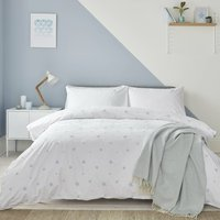 Scattered Stars Blue And White Bed Linen From