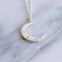 Celestial Moon Diamond Necklace