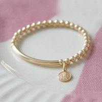 Teeny Tiny 14k Gold Filled St Christopher Bracelet, Gold